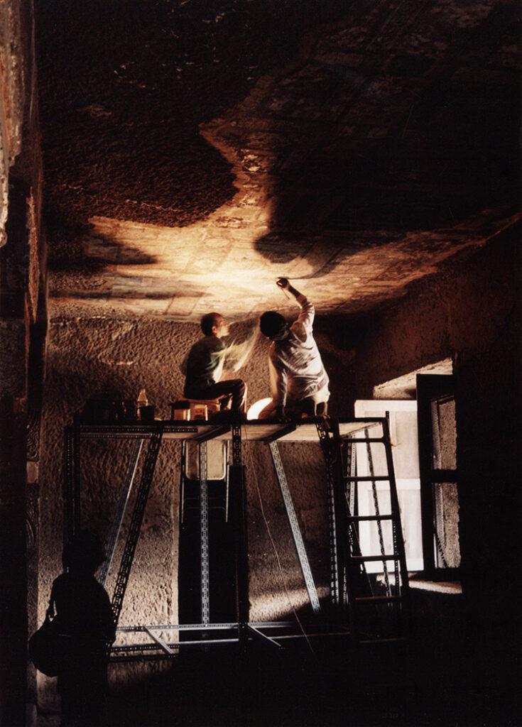 Ajanta caves; restoration