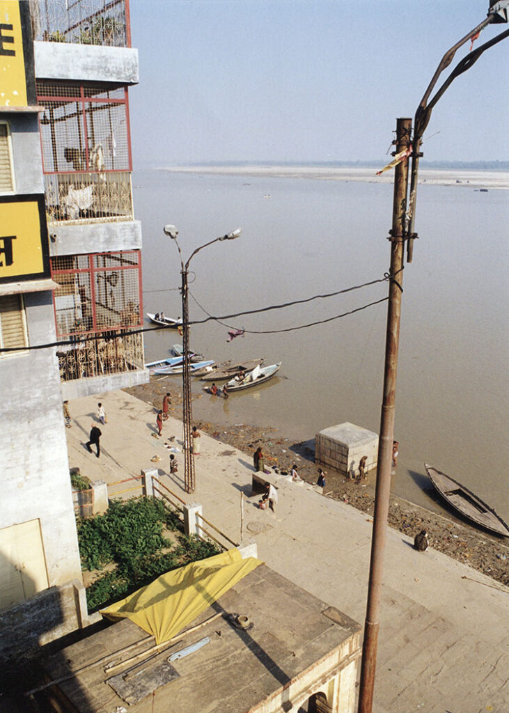 View from our window on the Ganges