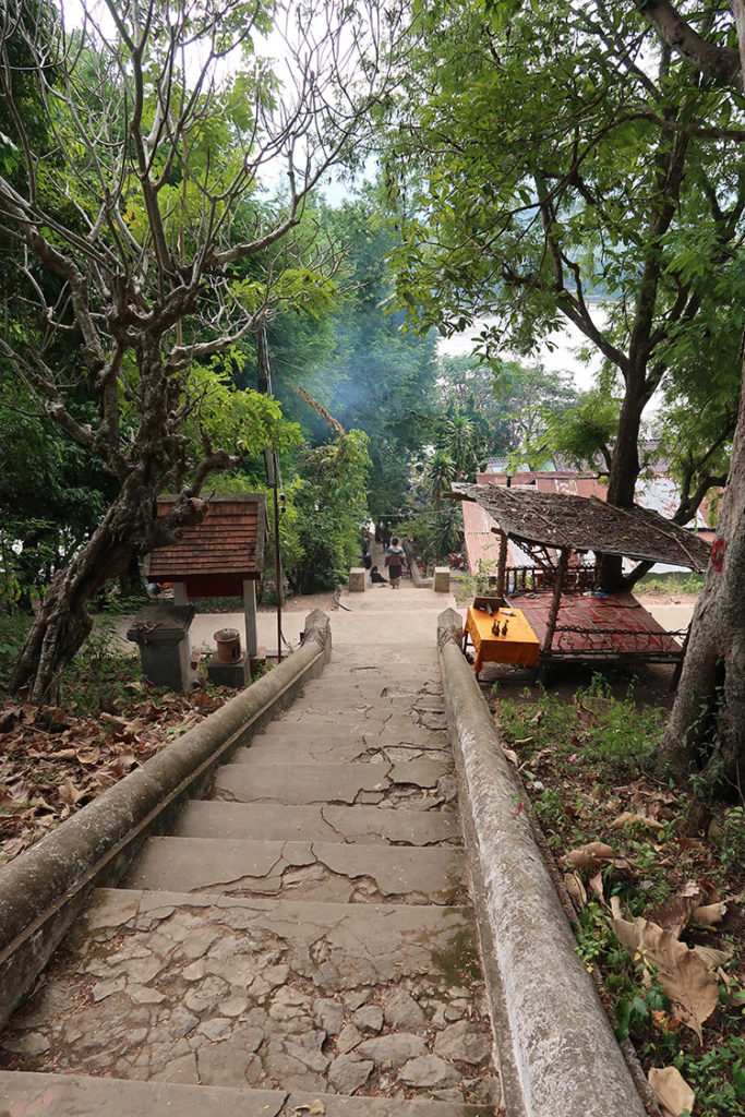 Climbing to Wat Chomphet