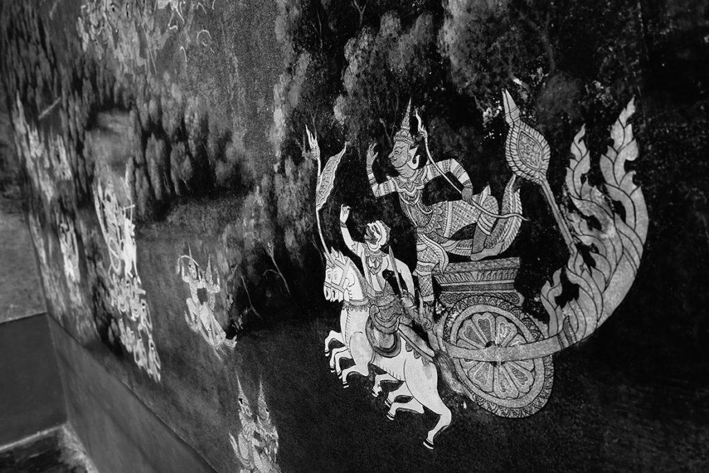 Ramayana mural (Photo by Carol)