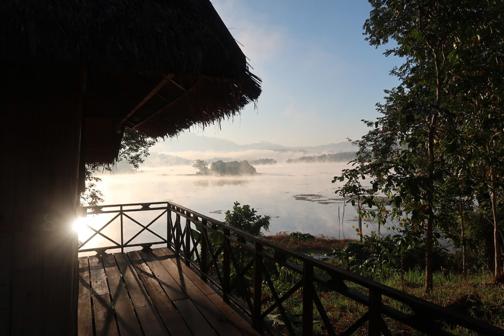 Morning from our bungalow